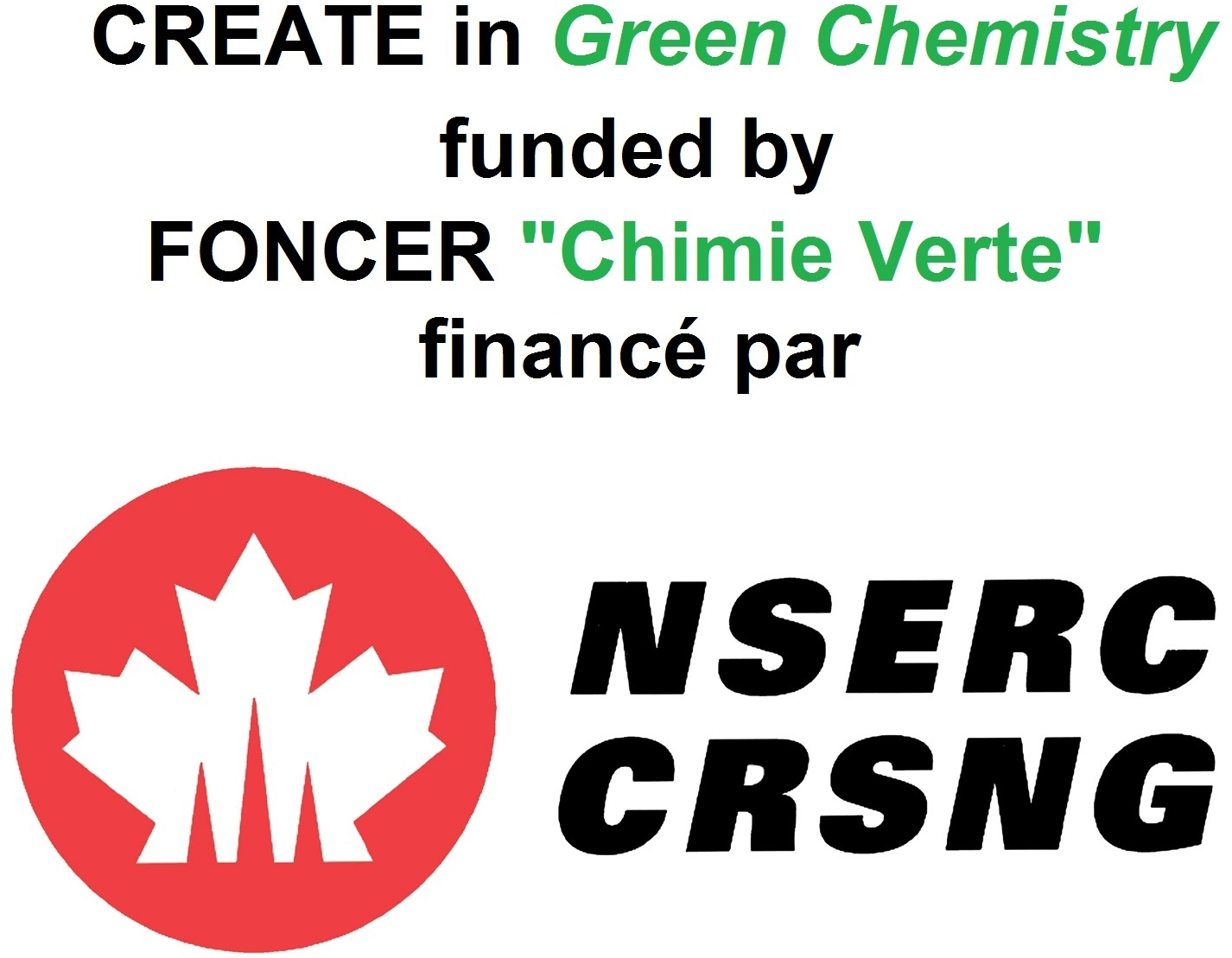 NSERC CREATE in Green Chemistry